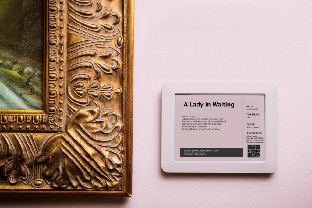 Introducing the smart museum label for the 21st century for Digital exhibit stickers