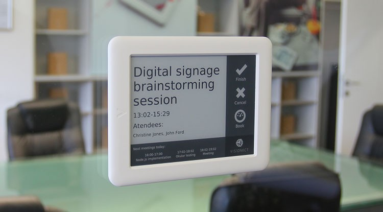 Digital Signage How We Built An E Paper Room Booking